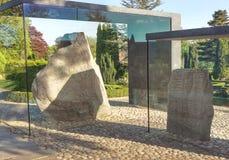 Jellinge石头,丹麦 图库摄影
