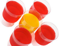 Jello. Red and yellow jello cups Stock Images