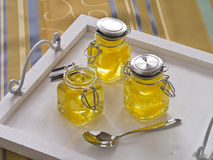 Jello amarillo Imágenes de archivo libres de regalías