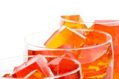Jello dans Glassed Photographie stock libre de droits
