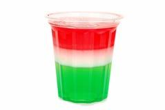 Jello de três cores fotografia de stock royalty free