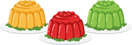 Jello Dessert Molds Royalty Free Stock Photo
