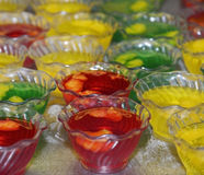 Jello Desserts In Plastic Bowls Royalty Free Stock Images