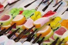 Jello frutado Fotografia de Stock