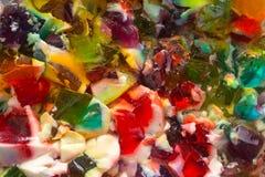 Jello Mashup. Multicoloured jello at the end of it's lifespan Stock Photography