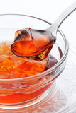 Jelly. Strawberry jelly in glass bowl Stock Photography