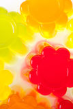 Jelly. Colored fruit jelly isolated by the background royalty free stock image