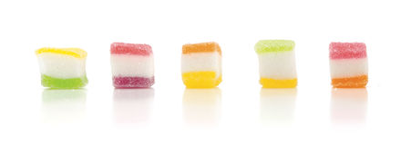 Jelly. Square, children like gelatin juicy Royalty Free Stock Images