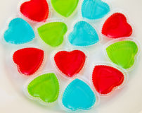 Jelly. Heart-shaped jelly as Thai style Stock Photography