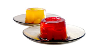 Jelly. Sweet colored jelly in saucer Royalty Free Stock Photography