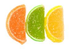 Citrus Fruit Gel Candies Stock Photography