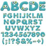 Jelly alphabet, letters, numbers and characters with eyes. Isolated colored vector objects. Jelly alphabet, letters, numbers and characters with eyes. Isolated vector illustration