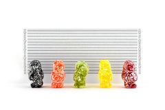 Jelly Baby Bandits Royalty Free Stock Photos