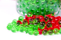 Jelly balls. Colorful jelly balls on white background Stock Photo