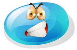 Jelly bean with angry face Royalty Free Stock Photography