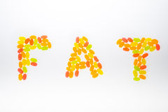 Jelly Bean arrange to be. Fat text Stock Images