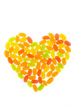 Jelly Bean arrange to be heart Stock Images