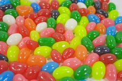 Jelly bean background with differents colors . Stock Photo