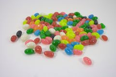 Jelly bean background with differents colors . Stock Photography