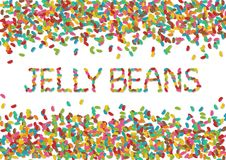 Jelly Bean Background stock illustration