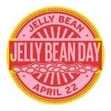 Jelly Bean Day stamp Royalty Free Stock Image
