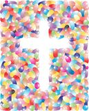 Jelly Bean Easter Cross Royalty Free Stock Image