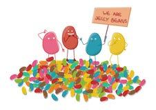 Jelly Bean Gang Cartoon stock illustrationer