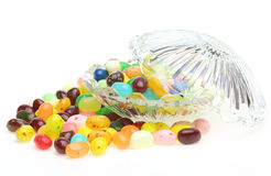 Jelly bean in a glass bowl Stock Photo