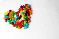 Jelly Bean Heart Royaltyfria Bilder