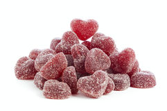 Jelly bean hearts Stock Images