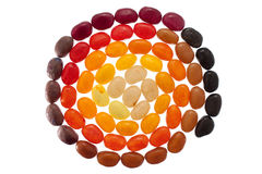 Jelly bean spiral Royalty Free Stock Images