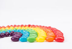 Jelly Bean Rainbow Lizenzfreie Stockbilder