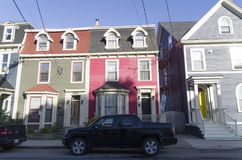 Jelly Bean Row Houses photographie stock libre de droits