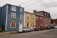 Jelly Bean Row Houses Imagen de archivo libre de regalías