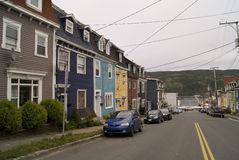 Jelly Bean Row Houses Fotos de archivo libres de regalías