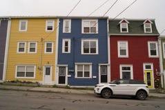 Jelly Bean Row Houses Stock Photography