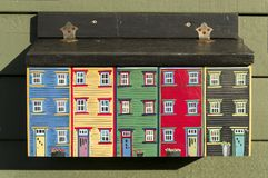 Jelly Bean Row Houses Letterbox Fotografia de Stock