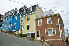 Jelly Bean Row Houses, St. John's Royalty Free Stock Photography