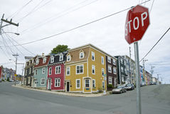 Jelly Bean Row Houses, St. John's Royalty Free Stock Photo