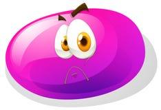 Jelly bean with sad face Stock Photos