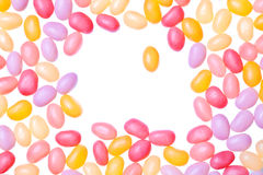 Jelly beans. Isolated on a white background Stock Photography