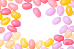 Jelly beans. Isolated on a white background Royalty Free Stock Photography