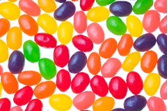 Jelly beans. Isolated on a white background Royalty Free Stock Image