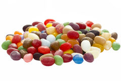Jelly beans. On a white background Royalty Free Stock Photo