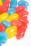 Jelly Beans. Colorful close-up of Jelly Beans on white royalty free stock photography