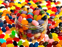 Jelly beans. Multi-colored  jelly beans mix Stock Images