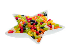 Jelly Beans. In a star shaped dish Royalty Free Stock Photo
