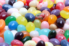 Jelly Beans. A closeup of many colorful jelly beans Stock Photography