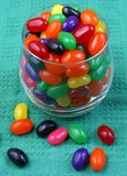 Jelly beans. A glass full of jelly beans royalty free stock image