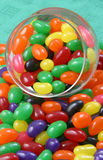 Jelly Beans. In glass container royalty free stock image
